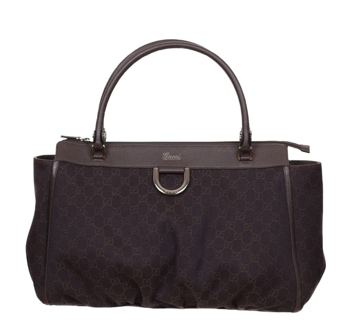 73fea9e6417 Gucci Monogram GG Large Brown Handbag Purse