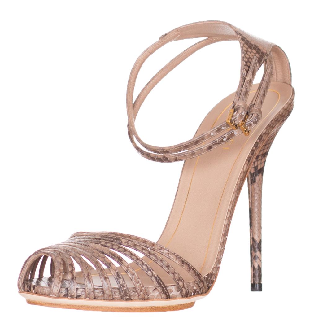 d78fdf9919b  1150 Gucci Python Snakeskin High Heel Ankle Strap Sandals Shoes ...