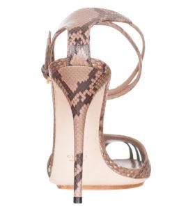 148d813fdc8  1150 Gucci Python Snakeskin High Heel Ankle Strap Sandals Shoes size US 9  EU 39