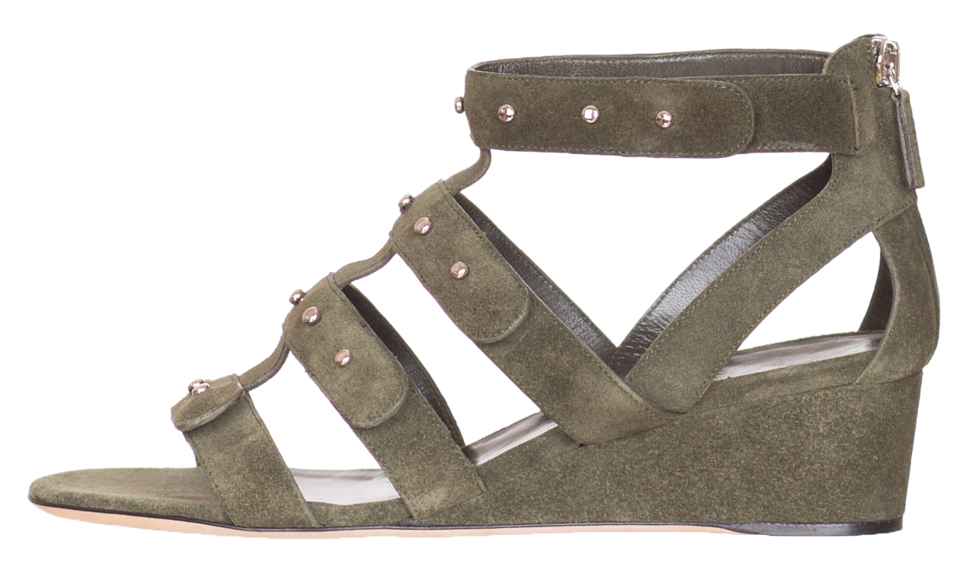 7bd65337424  750 Gucci Women s Military Green Suede Sandals Shoes Size US 7.5 EU ...