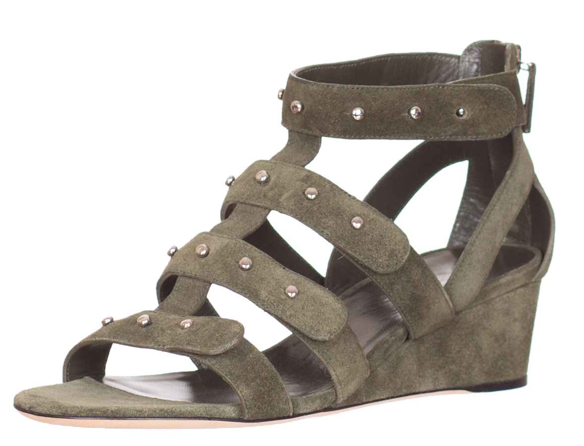5540bc8bbad 750 Gucci Women s Military Green Suede Sandals Shoes Size US 7.5 ...