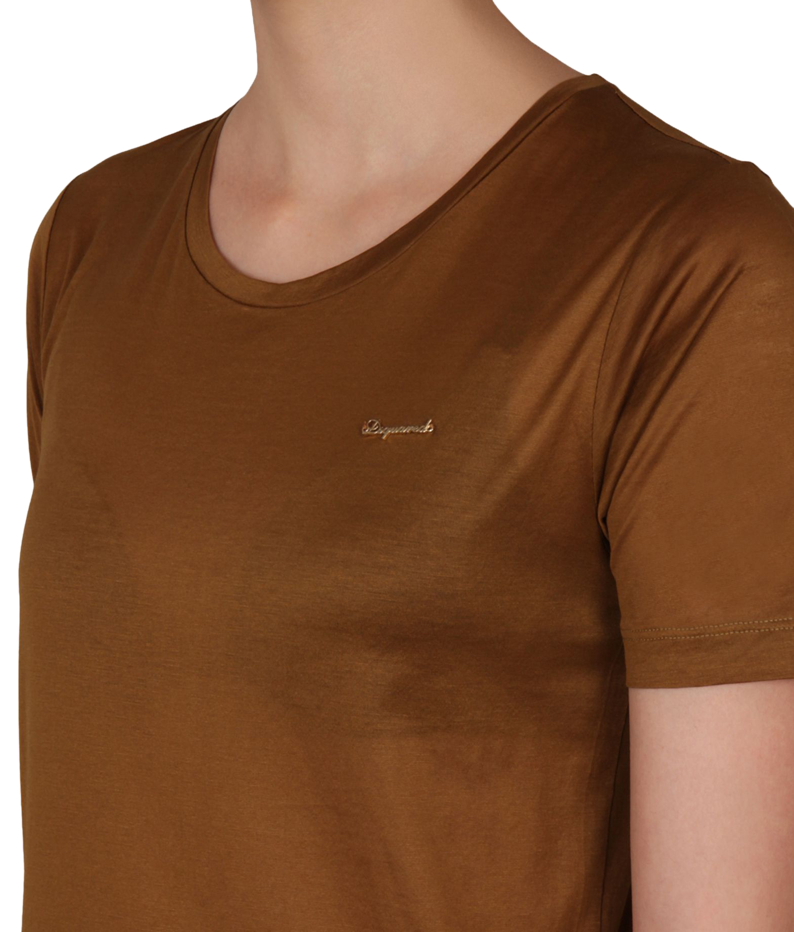 Women's S 100Cotton Dsquared2 Logo Cognac T Shirt mnwyvN80OP