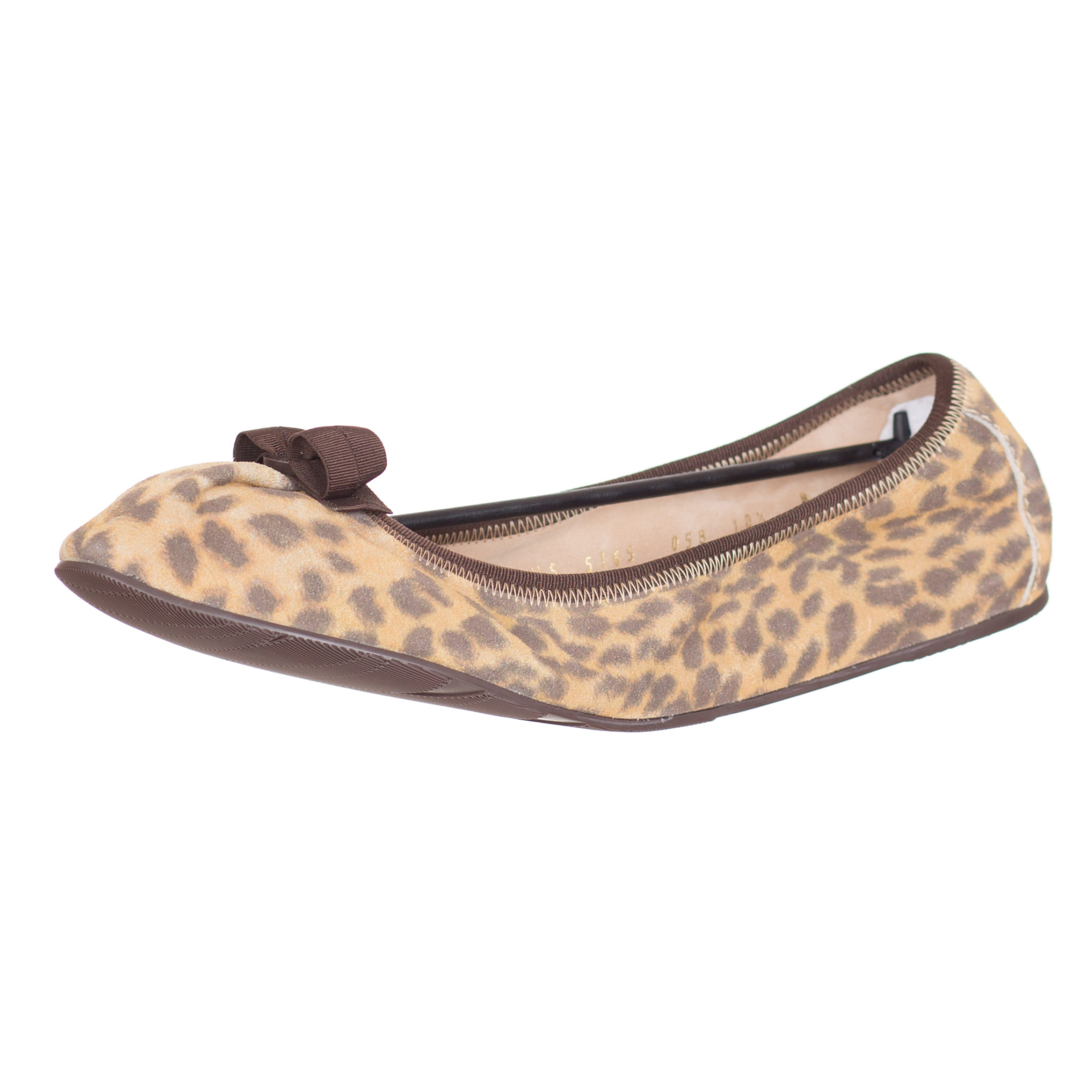 bed0678f9 Salvatore Ferragamo Women's 'My Joy' Leopard Suede Bow Ballerina Flats Shoes