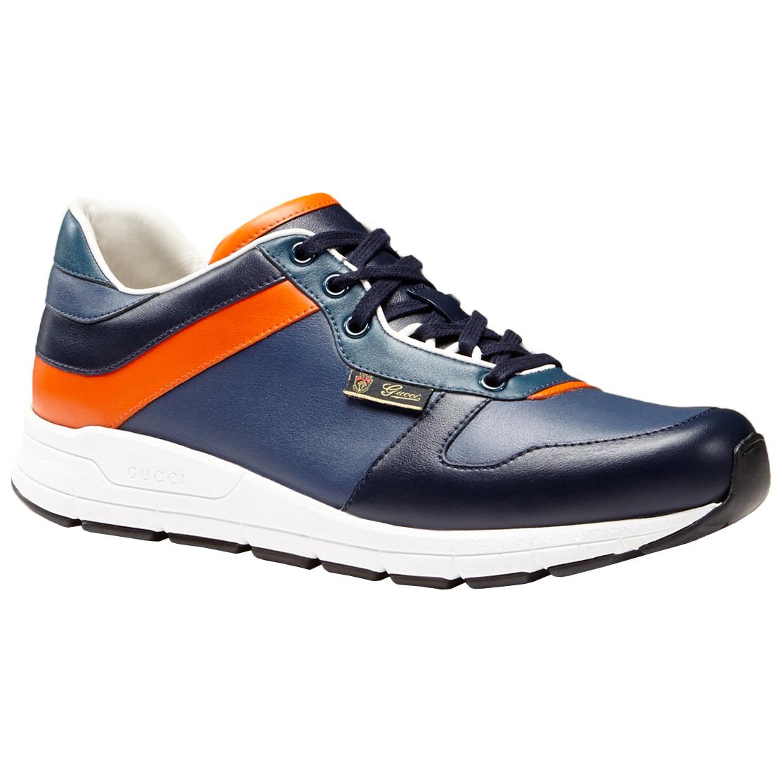 01509450c17 Gucci Men s Multicolor Leather Lace Up Low Top Sneakers Shoes
