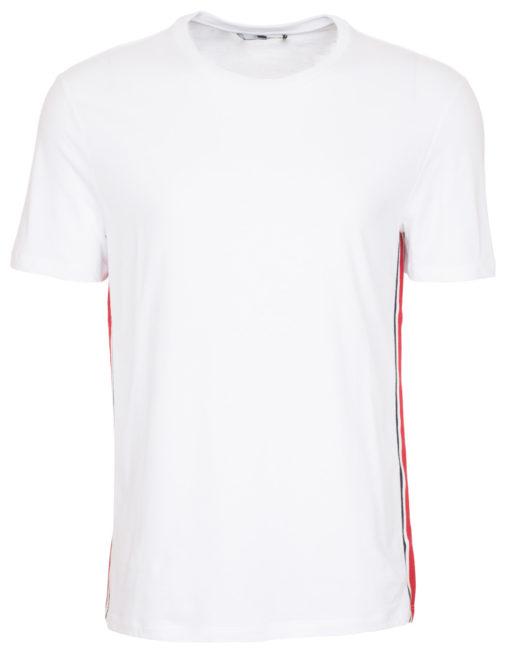 30d2c19c9 Gucci Men's White Web Detail Striped T-Shirt