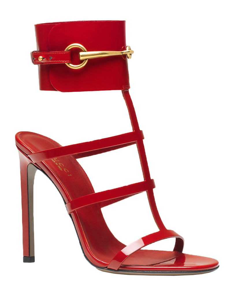 Gucci Women's Red Patent Leather Ankle