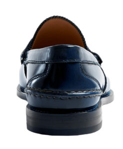 4f039eb3e48 Gucci Men s Blue Polished Leather Penny Loafers Shoes