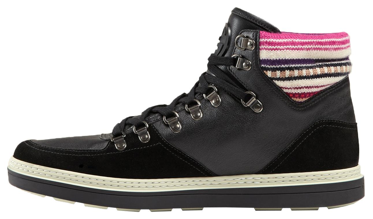 6e1bd408c0c3 Gucci Men s Black Contrast Combo GG High Top Sneakers Shoes