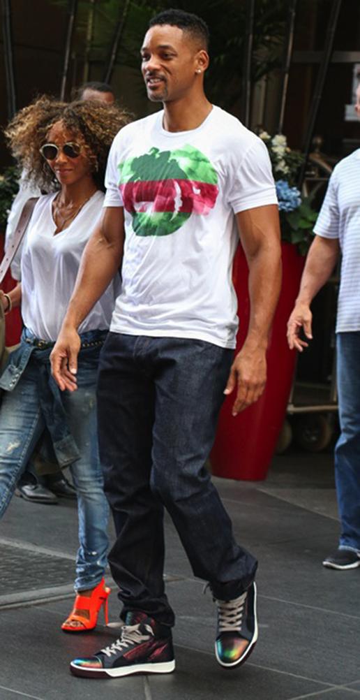 46813145fcc5 Gucci Men's White Cotton Watercolor Interlocking GG Jersey T-Shirt