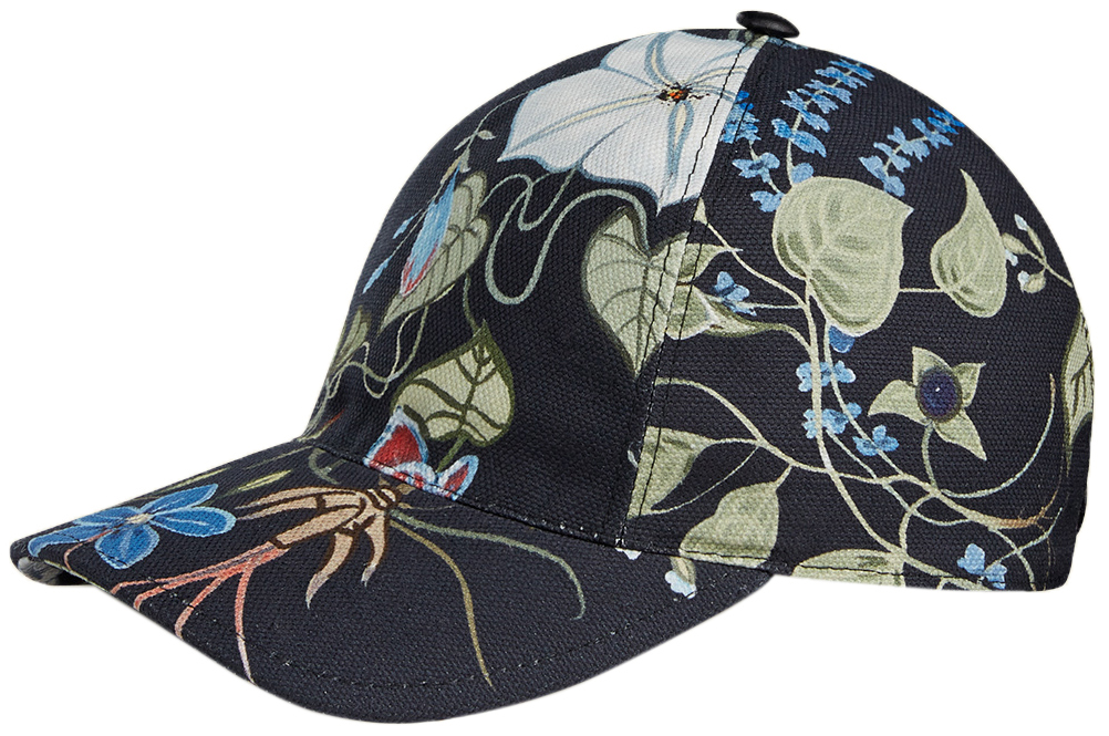 outlet store wholesale price reasonable price Gucci Men's Floral Knight Canvas Baseball Cap Hat