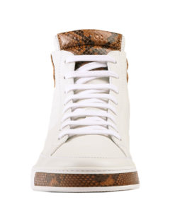 815e30374 Gucci Men's White Leather Python High Top Sneakers Shoes