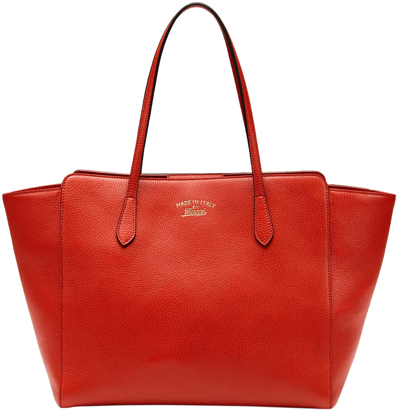 e0402d25e9800e Gucci Red Leather Swing Medium Tote Satchel Bag