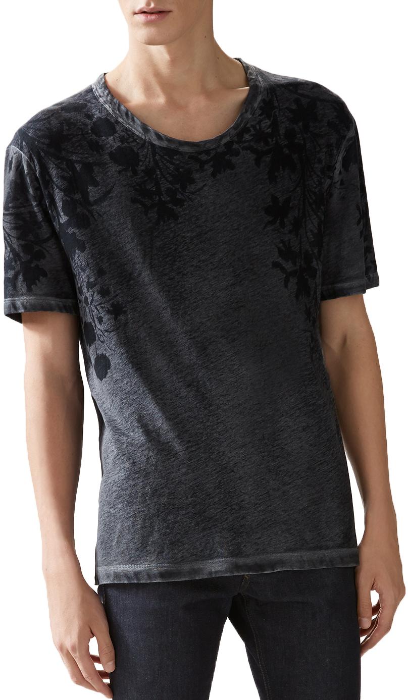 0dc2fa08b Gucci Men's Grey Cotton Flora Print Jersey T-Shirt