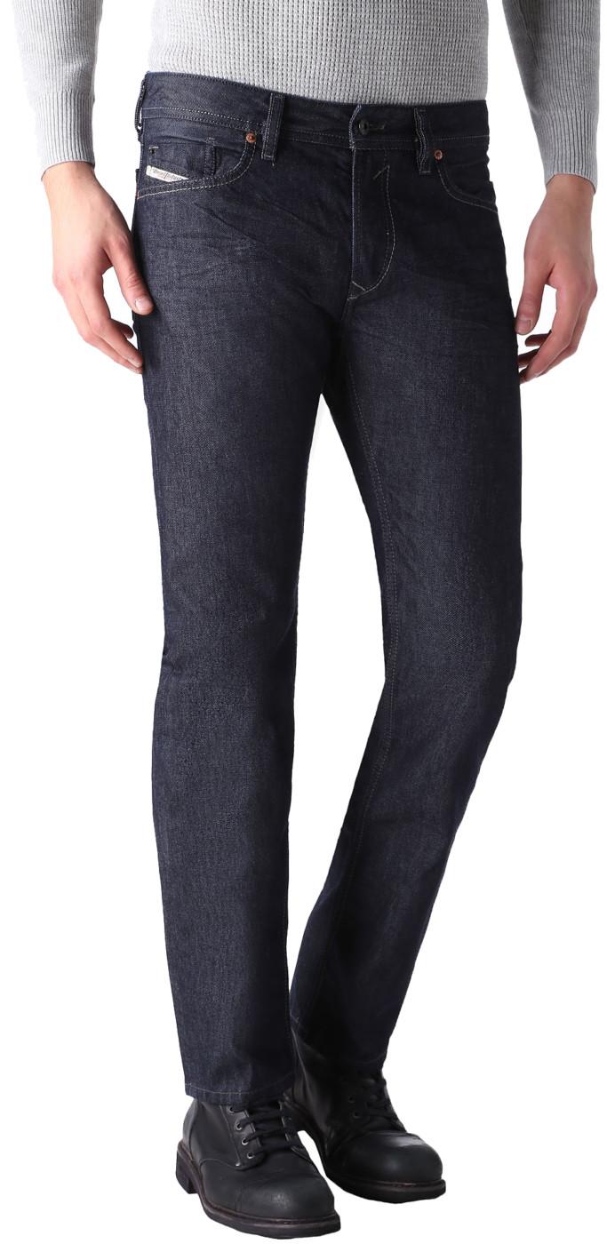 9d2c6103 Diesel Men's Black Cotton Wash 0088Z Regular-Straight Waykee Denim Jeans  Pants