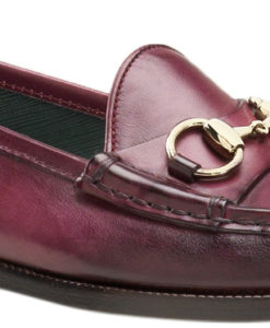 109db976b90 Gucci Women s Cherry Hand Shaded Leather 1921 Horsebit Loafers Shoes