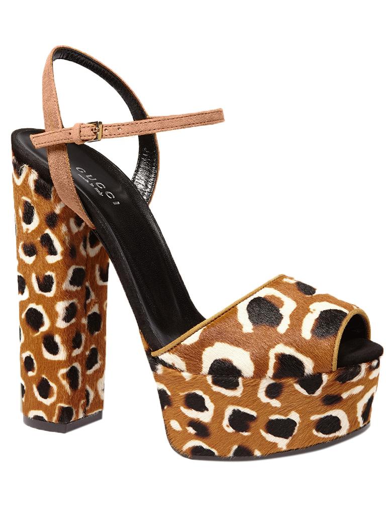 Gucci Women's Leopard Print Calf Hair