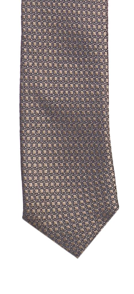 dcbdd8eb38d1 Dolce Gabbana Men's Brown 100% Silk Geometric Print Skinny Tie