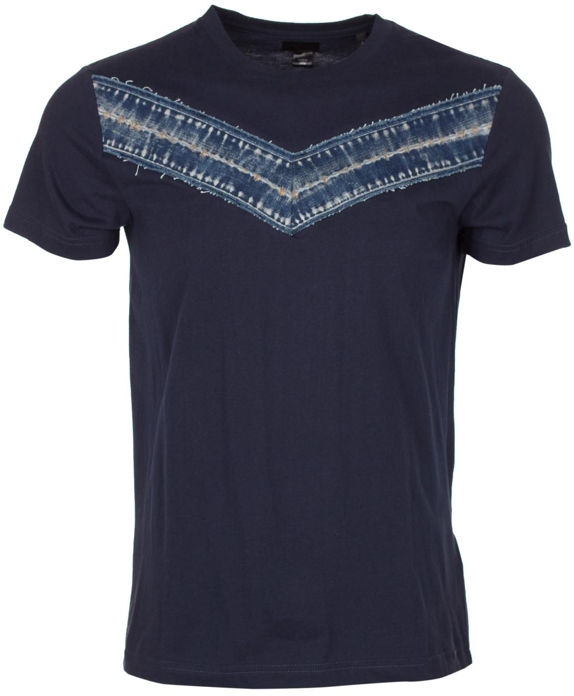NWT DIESEL Men/'s crew neck basic chevron logo T-shirt casual