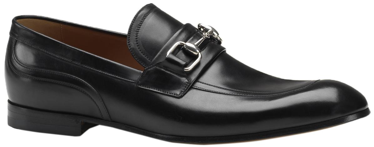 4173a88b59f Gucci Men s Black Leather Horsebit Loafers Shoes