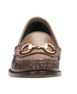 f0a4415aa5f Gucci Women s Brown Hand Shaded Leather 1921 Horsebit Loafers Shoes
