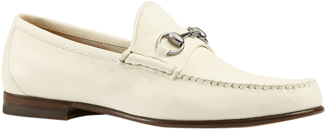Unlined Leather Horsebit Loafers Shoes