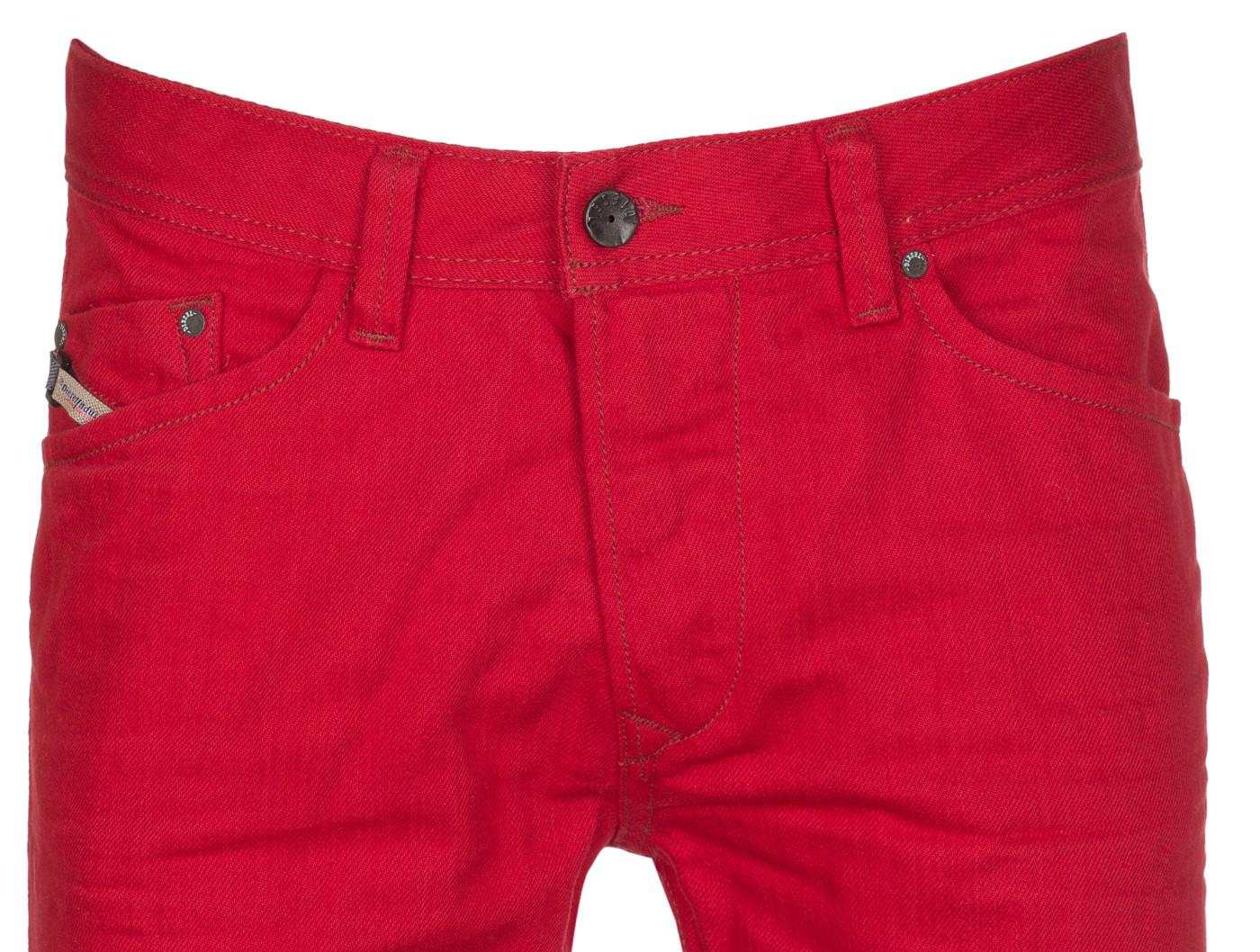 443a2ba2 Diesel Men's Red Cotton Wash 008QU Regular Slim-Tapered Darron Denim ...
