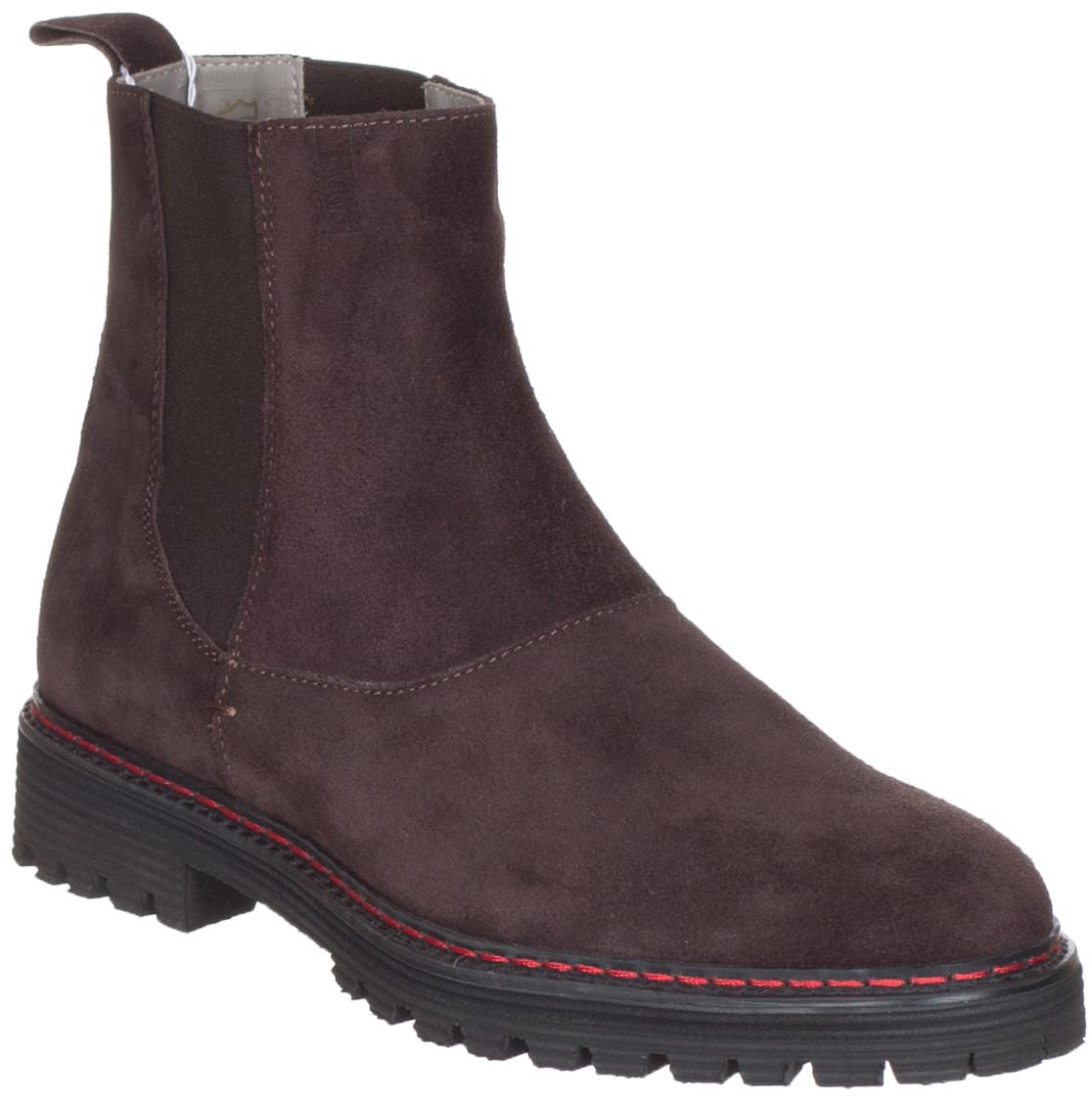 Armani Collezioni Men's Brown Suede Ankle Boots Shoes