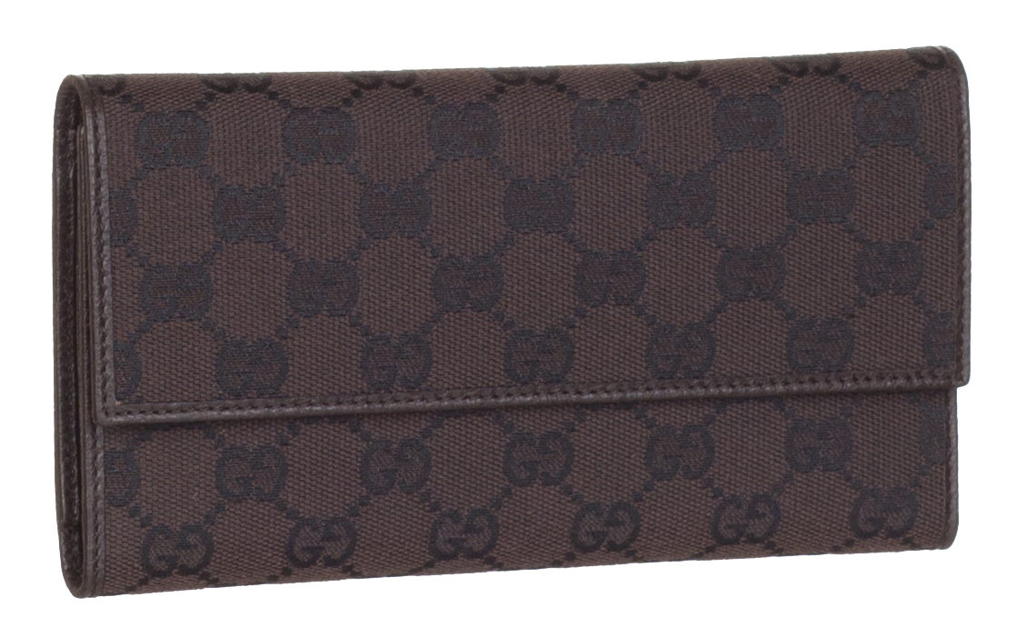 90fca414924 Gucci Women s 257303 Brown Nylon GG Guccissima Snap Closure Wallet W Coin  Pocket
