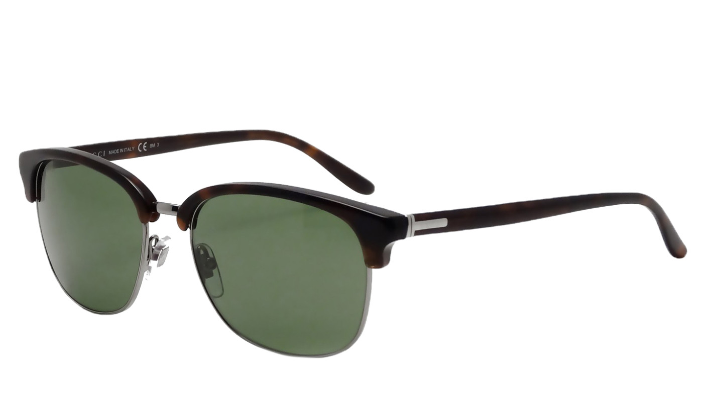 42d201286e Gucci Unisex GG2227 S 54mm Tortoise Havana Green Lens Semi ...