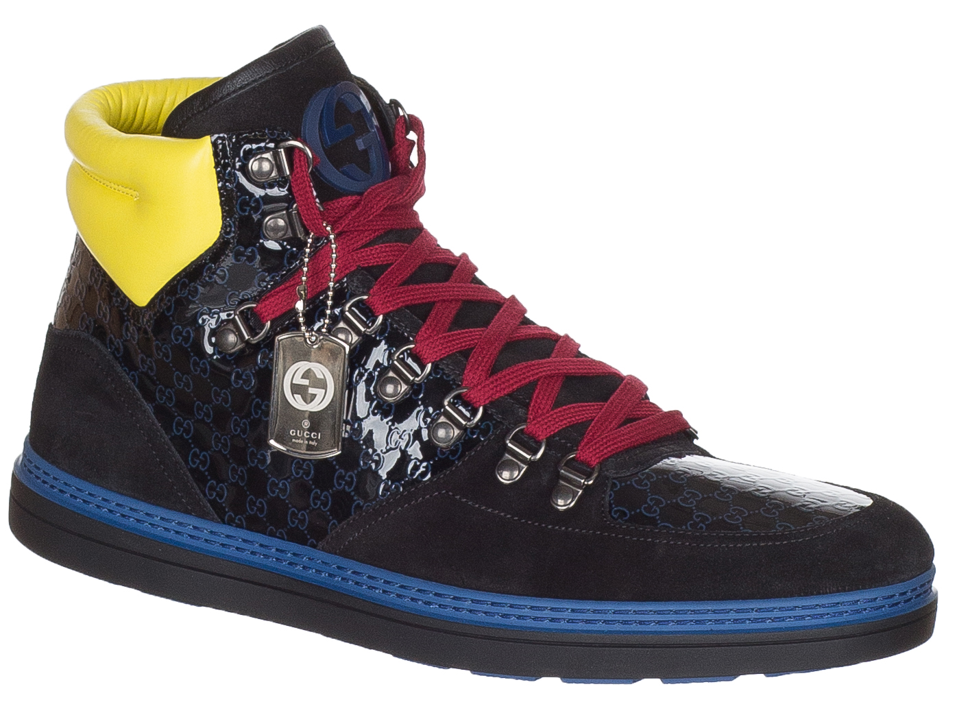 2989f865588 Gucci Men s Limited Edition GG Guccissima Leather High Top Sneakers Shoes