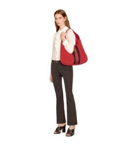 fe72946a63e Gucci Red Soft Suede Web Stripe Jackie Shoulder Hobo Bag