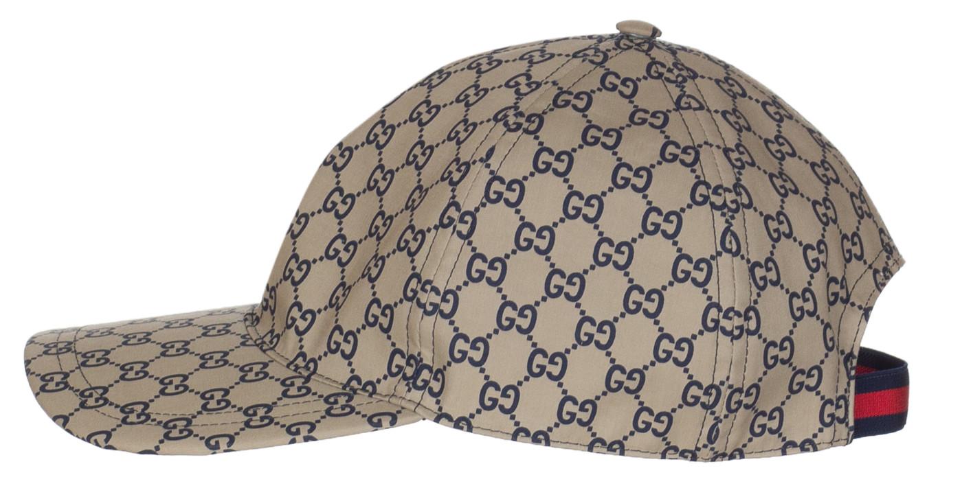 0cff8416 Gucci Men's Navy Blue GG Guccissima Web Stripe Baseball Cap Hat