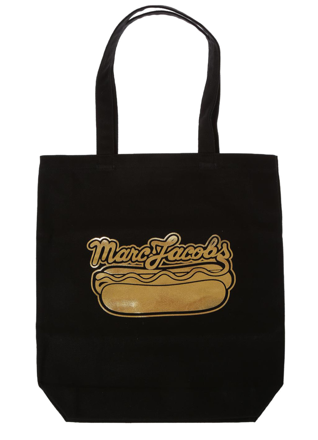 68a3cbe0d106 Marc Jacobs Black Cotton Hot Dog Print Handbag Tote Bag