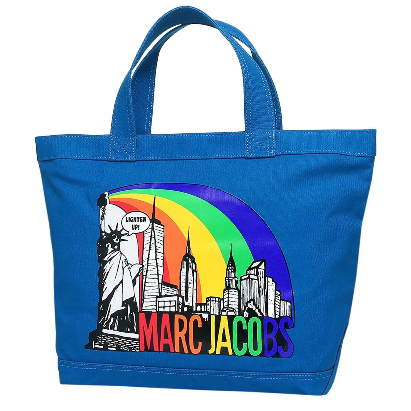 9e723d37df6f Marc Jacobs New York Print Cotton Zip Shopper Tote Bag