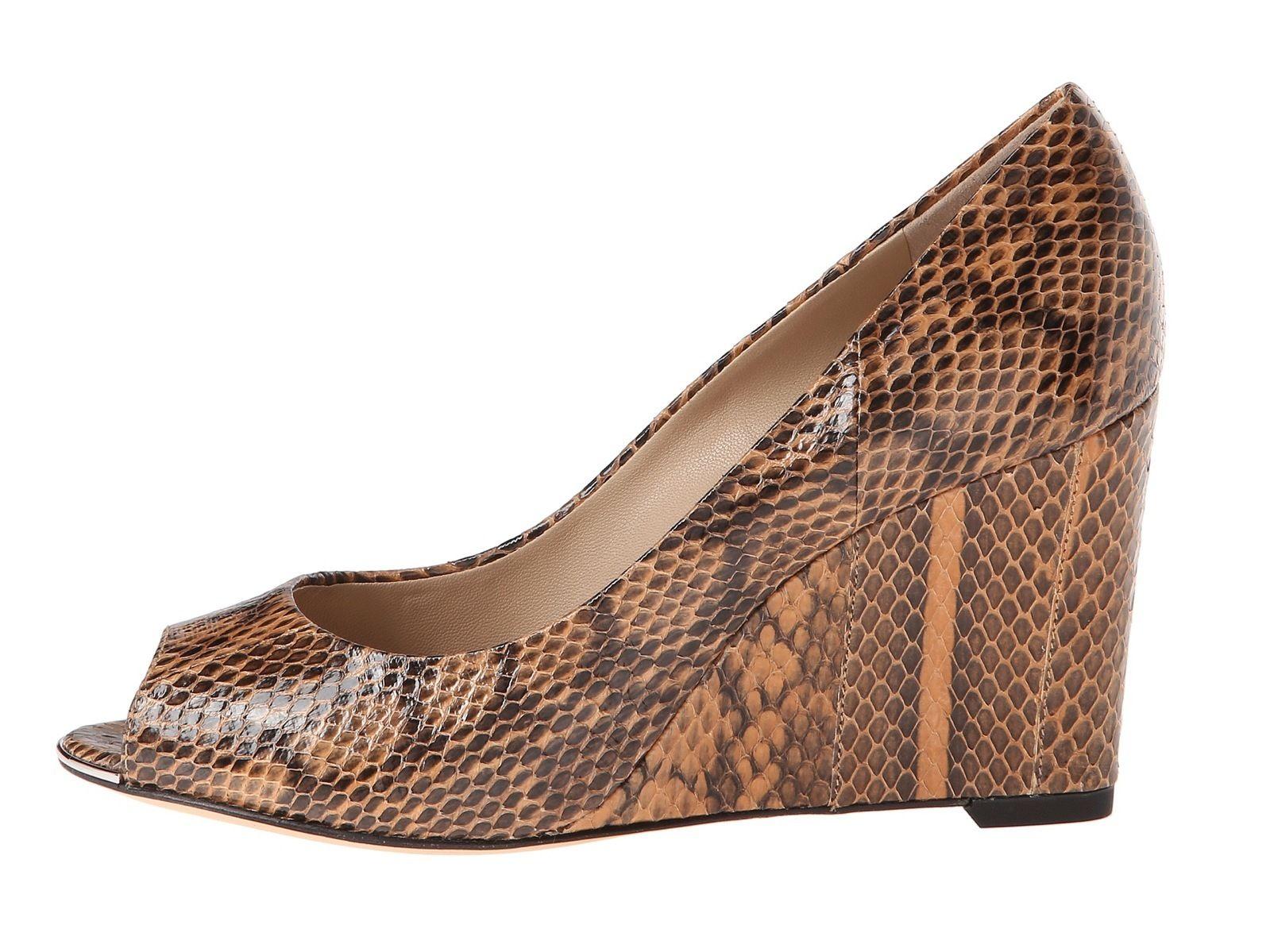 Valari Snake Women's Michael Shoes Peep Toe Wedge Kors Skin R34AL5j