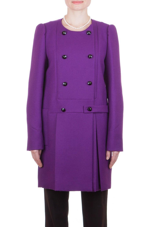97e67cfbee8 Yves Saint Laurent YSL Women's 100% Wool Double Breasted Long Coat