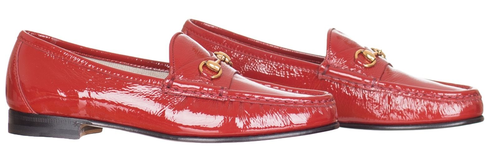 81f053af433 Gucci Women s 1953 Horsebit Red Patent Leather Loafer Shoes US 6.5 EU 36.5