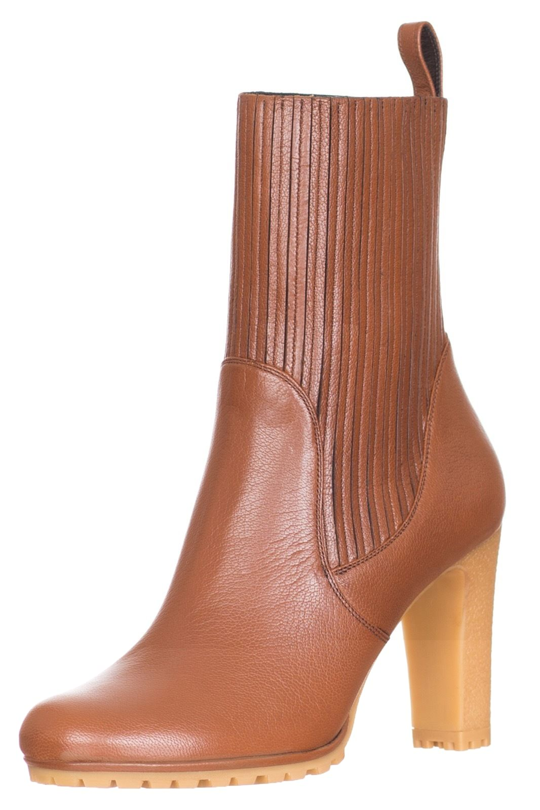 c473f45f5c2c57 Gucci Edith Cuir Brown Leather Mid-Heel Bootie Boots Shoes US 8 ...
