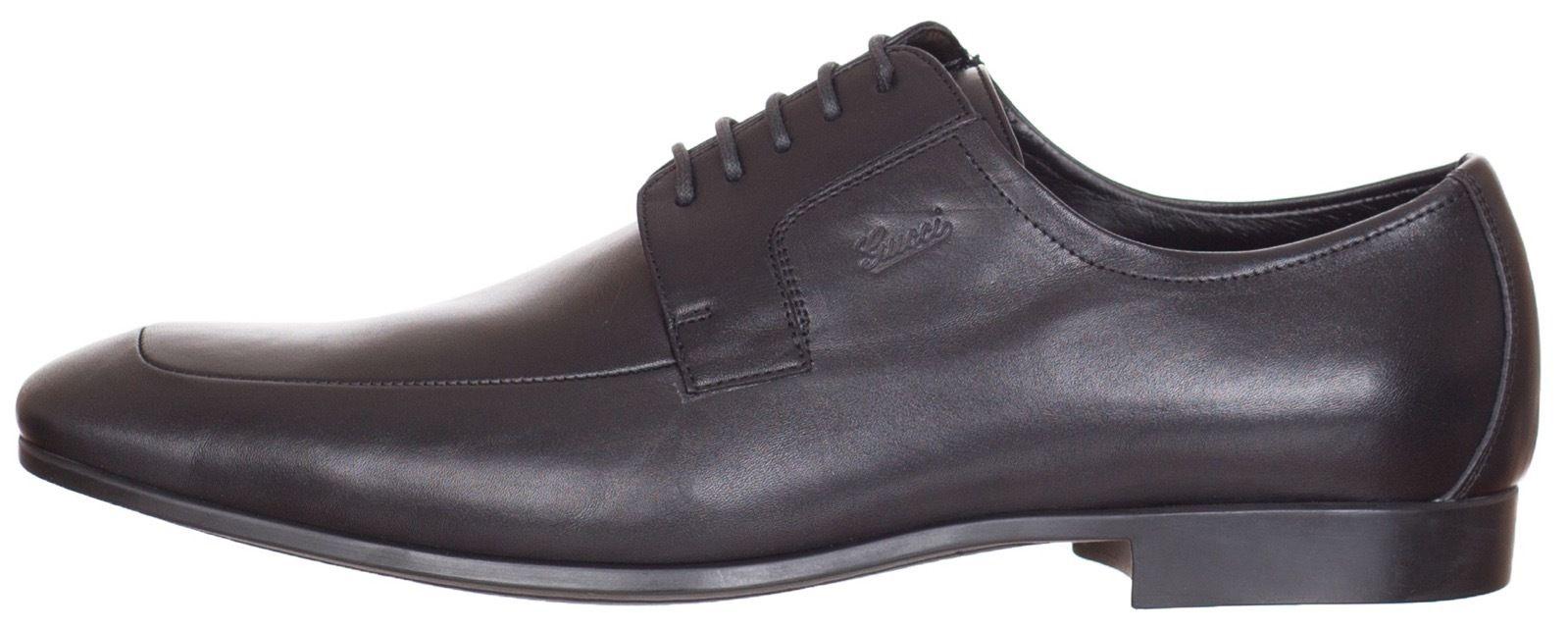 cdbbd7d69c $595 Gucci Black Leather Lace Up Oxford Dress Shoes US 9.5 10 10.5 ...