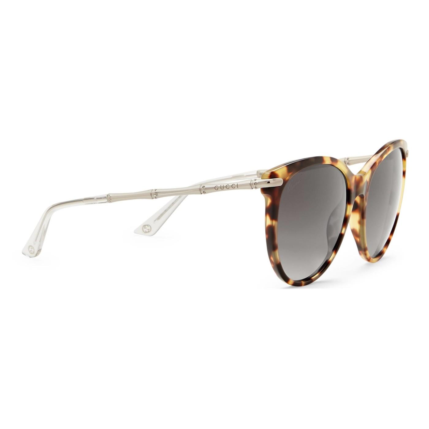 b75c1102d5 Gucci Women s Yellow Havana GG 3771 S Brown Lens Bamboo Temple Sunglasses
