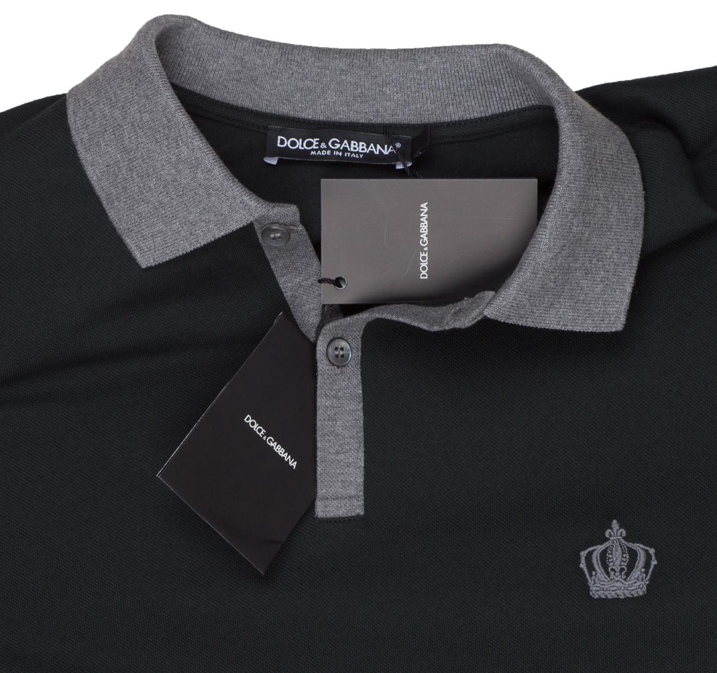 478eafff7 Dolce & Gabbana Men's Dark Green Crown 'Corona' Short Sleeve Contrast Polo  Shirt