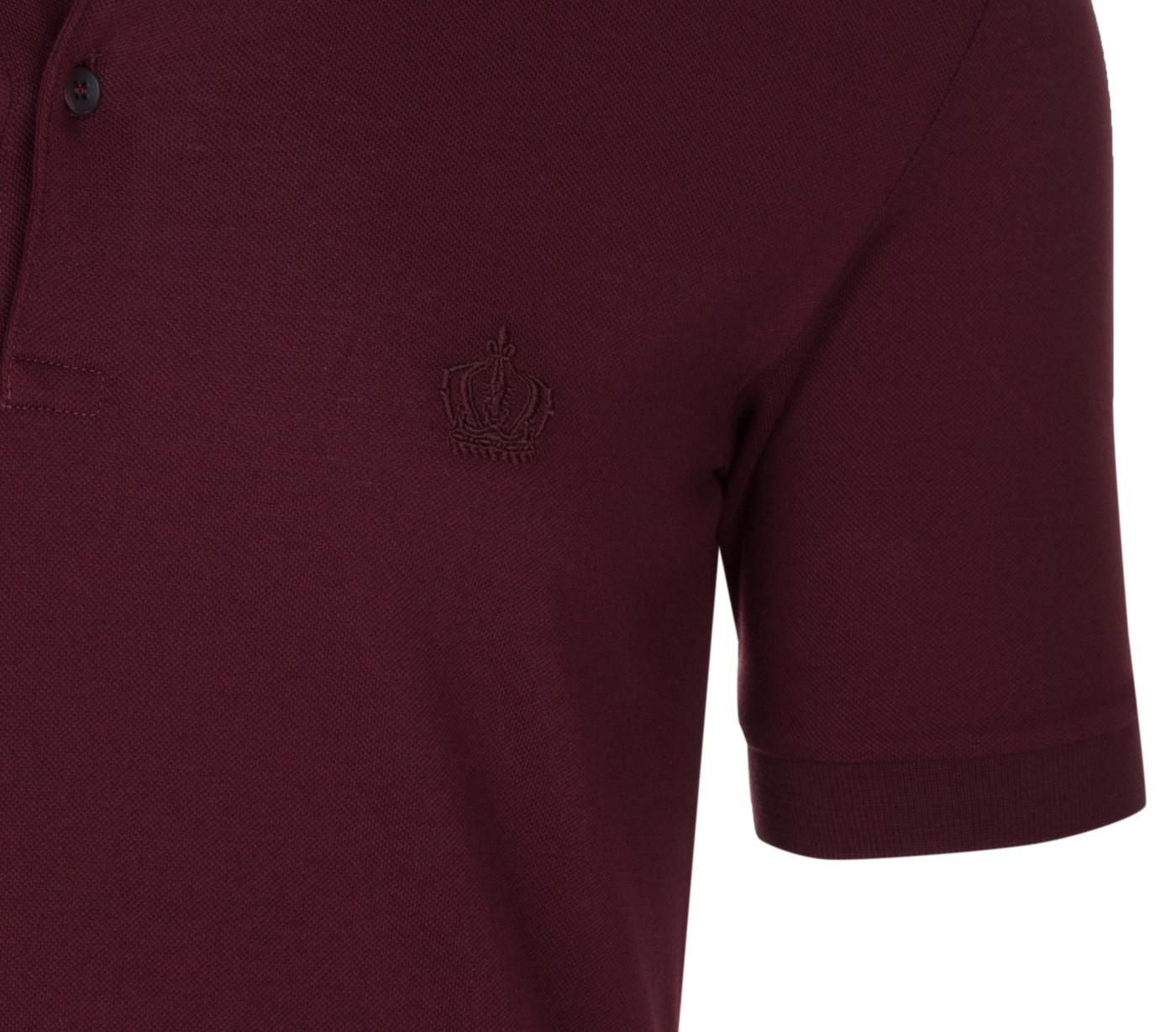 Dolce /& Gabbana Mens Burgundy Crown Corona Short Sleeve Polo Shirt