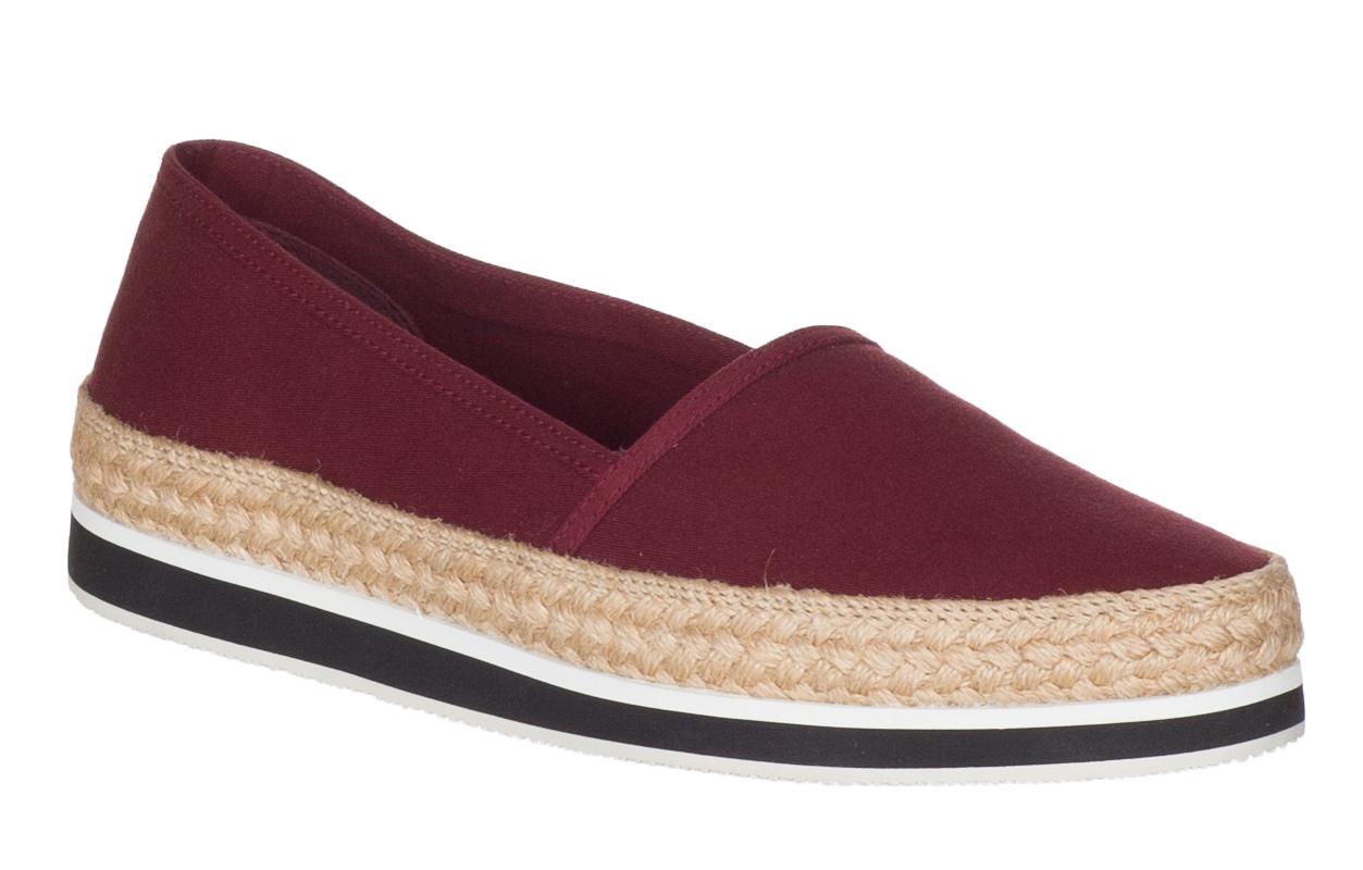 Prada Women s Burgundy Canvas 3S5993 Espadrille Flats Shoes 09817cebeb