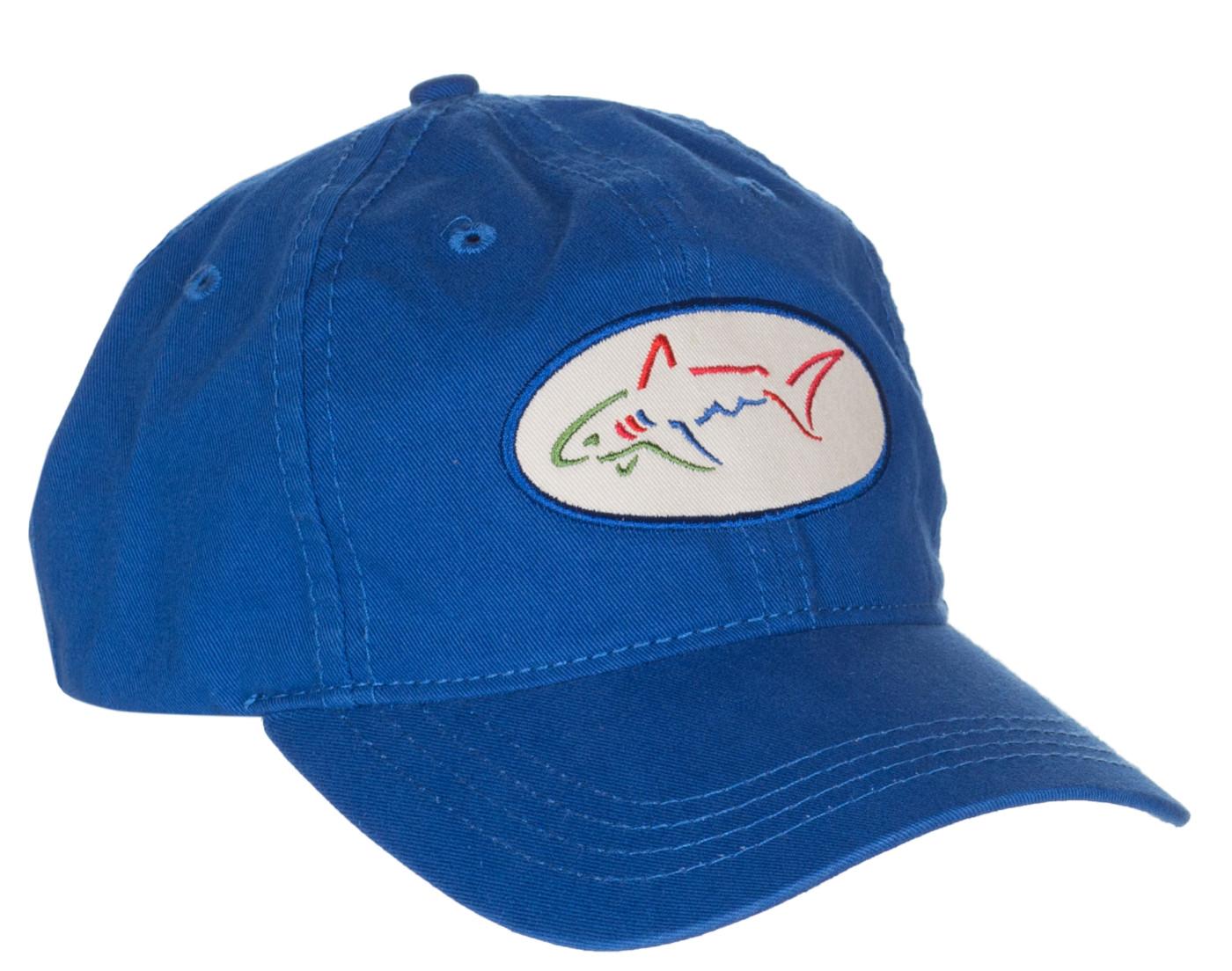 Greg Norman For Tasso Elba Men's Blue Shark Logo Collegiate Cap Hat