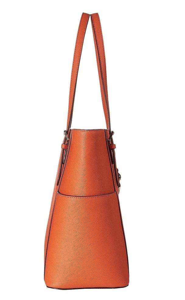 3bc77414be31 MICHAEL Michael Kors Orange Saffiano Leather Jet Set Travel Large Tote Bag