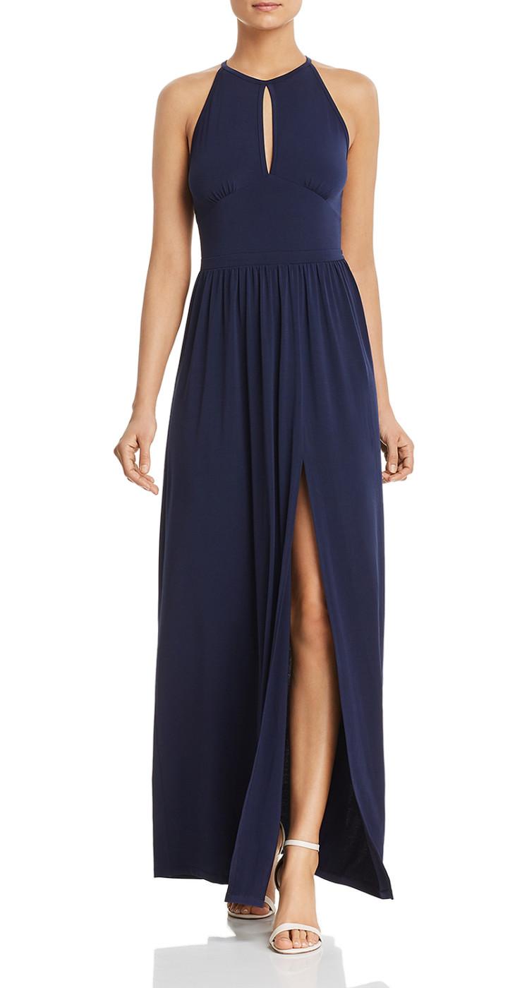 6b779695672962 Michael Michael Kors Women s Blue Sleeveless Maxi Dress