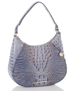 25edf358361c Brahmin Women's Leather Amira Melbourne Crocodile Embossed Hobo Bag