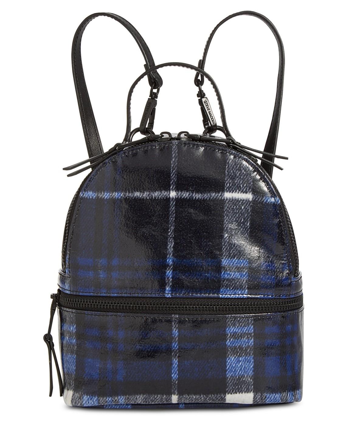 093369baa9 Steve Madden Women's Val Plaid Mini Backpack